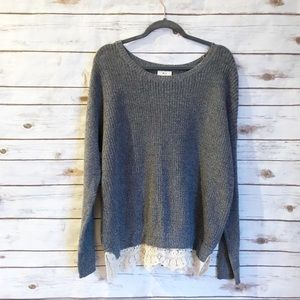 Pins and needles lace detail sweater!